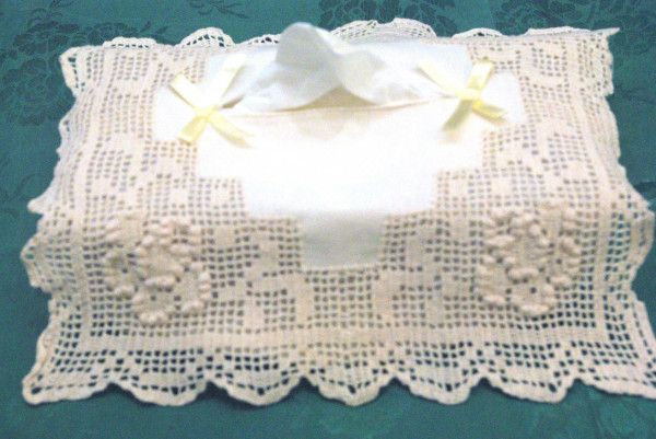 Kleenex Holder in pure cotton