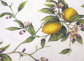 Printed Tablecloth yellow colour with lemon