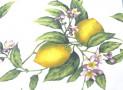 Tovaglia Stampata con limoni fondo giallo