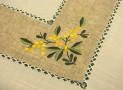 Rectangular tablecloth with lemon application