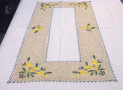 Rectangular tablecloth with lemon application