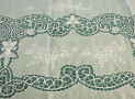 Linen Organza Tablecloth with Sorrento Embroidery Pattern